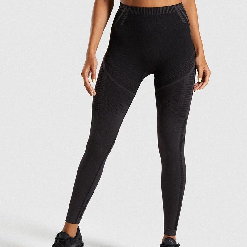 Kadınlar için yeni sorunsuz yoga pantolon kadın spor ve spor pantolon kadınların yüksek belli elastik dokuz nokta tayt için çalışan