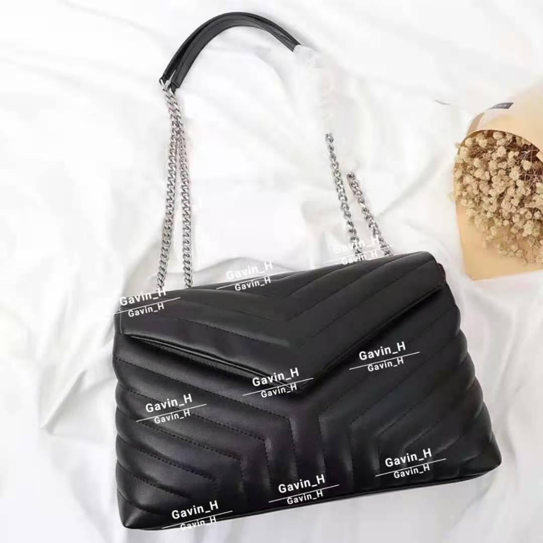 Nuove borse da designer Lettera trapuntata in pelle reali in pelle da donna borse a tracolla a tracolla a tracolla di alta qualità Borsa a flap multiplo AJNMP