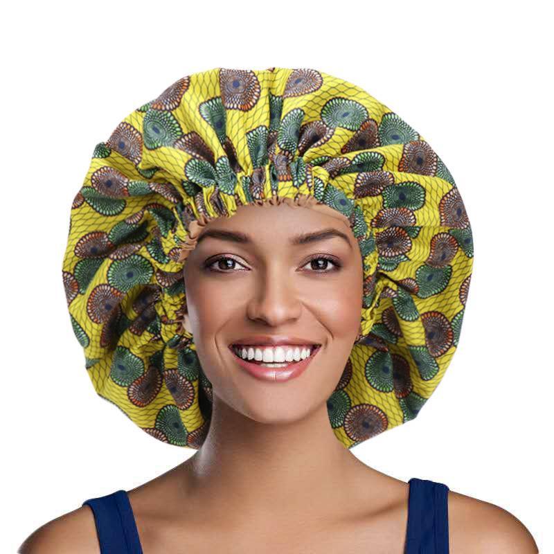 Notte Dormire Musulmani Cap Satin Elastic Bonnet per la cura della copertura della testa di cura Regolare la perdita di capelli Berryies Skullies Donna Cappelli