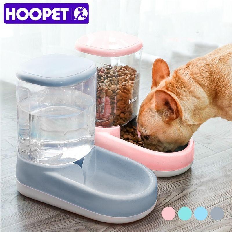 Hoopet Пищевая Питание Pet Автоматическая Подтекательная Собака для Питьевая Чаша для кормления для воды Дозатор Большой емкости 201110