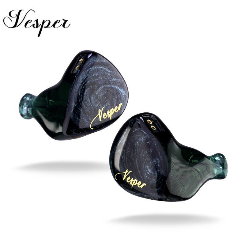 QOA Vesper 1BA + 1DD pilote hybride In Ear écouteurs HIFI DJ Moniteur écouteurs écouteurs casque avec 2Pin Câble détachable KZ ZSX ZSN