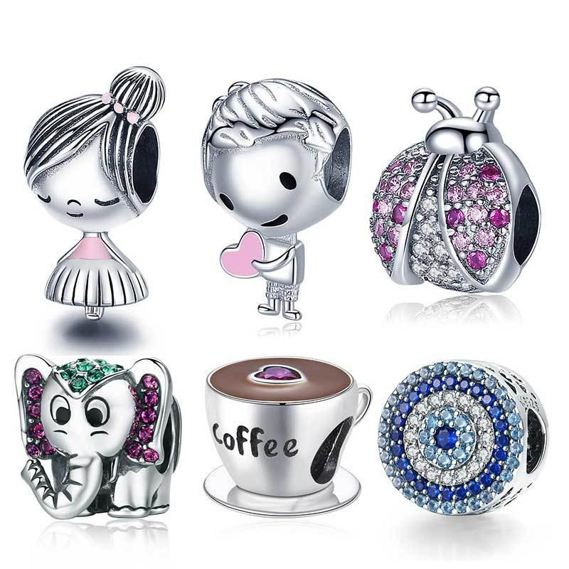 2020 New 100% Real 925 Sterling Silver Fish Girl Boy Charm Bead Fit Original Pandora Bracelets DIY Jewelry For Women Gift Q1219