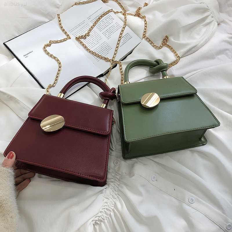 Moda kadın 2019 Çanta Yeni Fransız Niş Tasarım Tek Omuz Messenger Zincir Küçük Kare Çanta