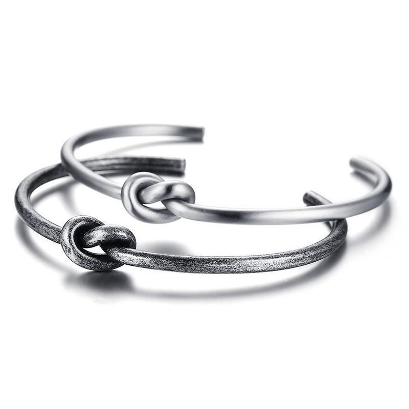 عقدة الكفة أساور الإسورة في الفولاذ المقاوم للصدأ هدية شخصية ل أمي العروسة هدايا التعادل سوار عقدة