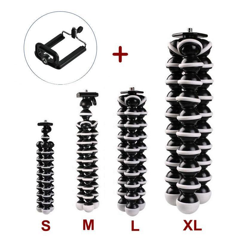 Tripés para SLR Digital Câmera Celular Telefone Flexível Octopus XL L M S Size Size Titular Tripé com Suporte