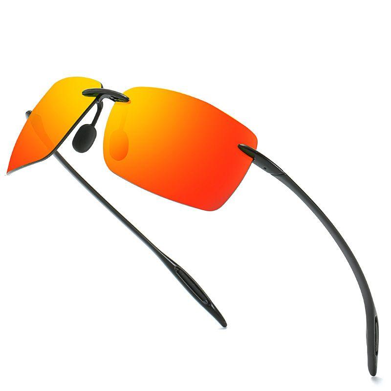 Square Square Uwekable Polarized солнцезащитные очки Men Rimless TR90 легкий вождение солнцезащитные очки мужского пола 2019 года дизайн бренда оттенки UV400