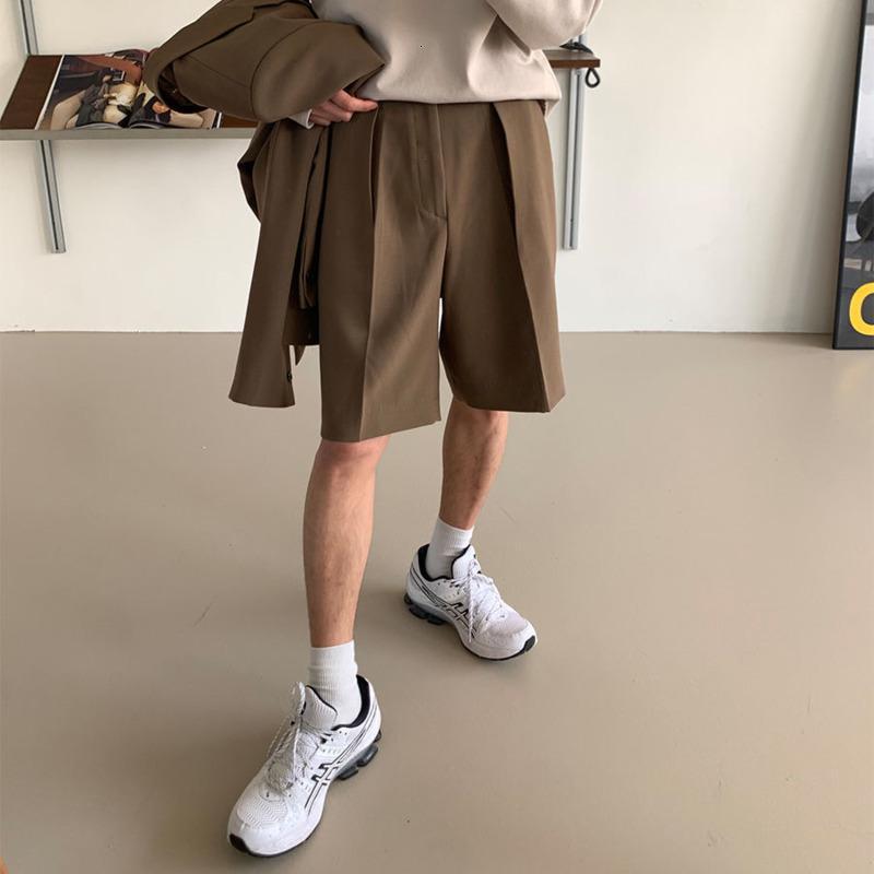 Sommer Koreanische Modeffekte Farbe Business Casual Streetwear Wild Loss Pak Shorts Männer M-XL