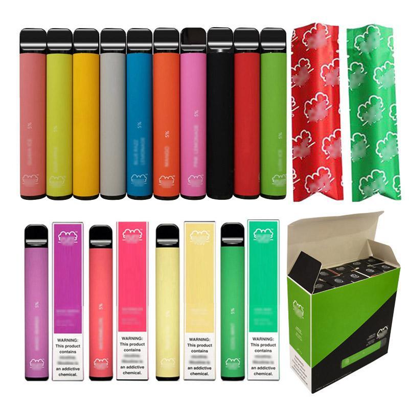Лучший дешевый цена слойки плюс одноразовый испаритель ECIG 550MAH электронная сигарета 800 Puff Puff Power Plus Pape Pen