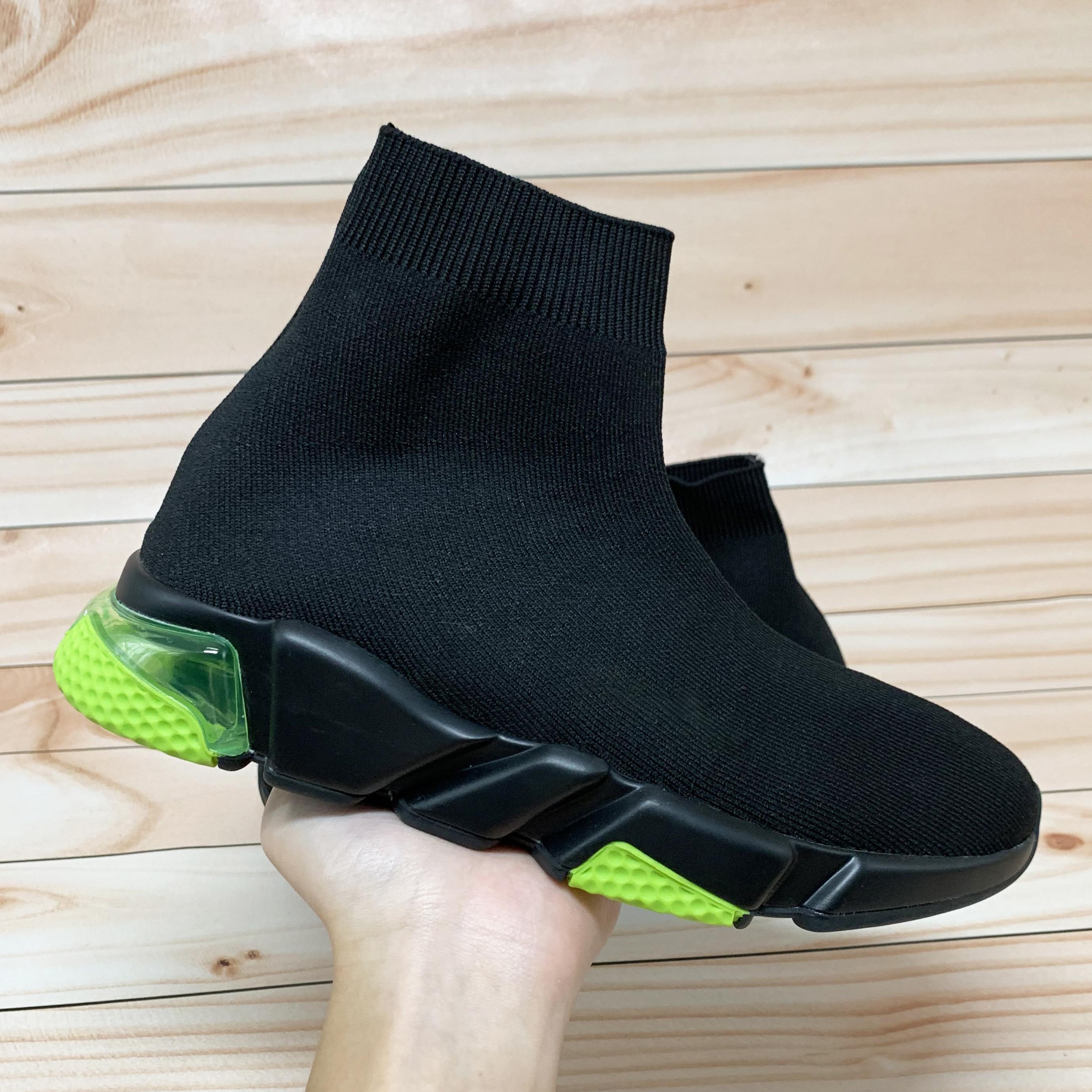 Novo Treinador de Velocidade de Paris Limpar Sneakers Sneakers Borgonha Oreo Triplo Preto Branco Branco Fluo Fluo Esticar Mulheres Mulheres Running Shoes US 5.5-11