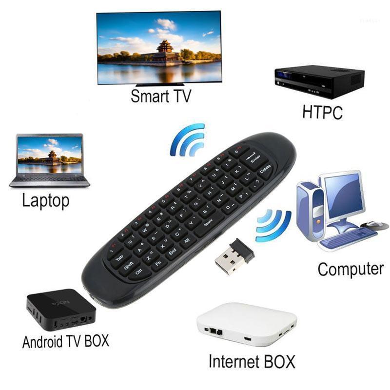 Teclado de control remoto inalámbrico recargable de 2.4G Mouse de aire para Android TV Caja NC991