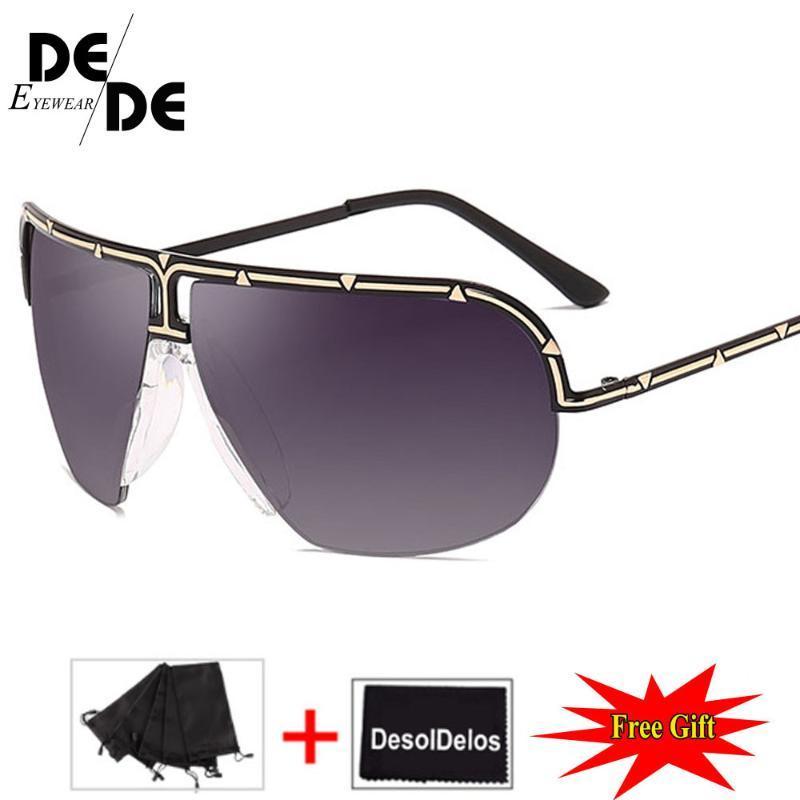 2020 Concepteur de pilote surdimensionné rétro Femmes UV400 lunettes lunettes de soleil lunettes lunettes femmes femmes grandes pour cadre soleil mode lmuat