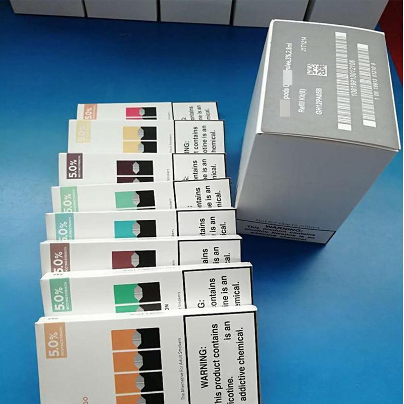 Nova embalagem descartável vapes pod cartucho compatível para vape pods vazio recarregável bar bar vgod stig kit 8 cores com log