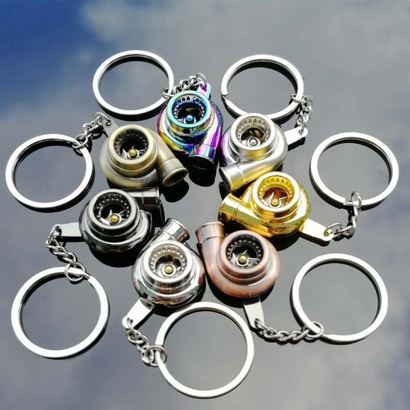Creative Turbine Key Chain Auto Parts Turbocharger Metal Gift Pendant