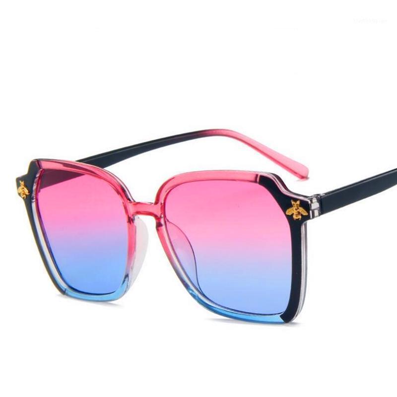 2020 نمط جديد مربع كبير غير النظامية نظارات الشمس أزياء صغيرة النحل النظارات الشمسية مضلع النظارات أوروبا وأمريكا sun1
