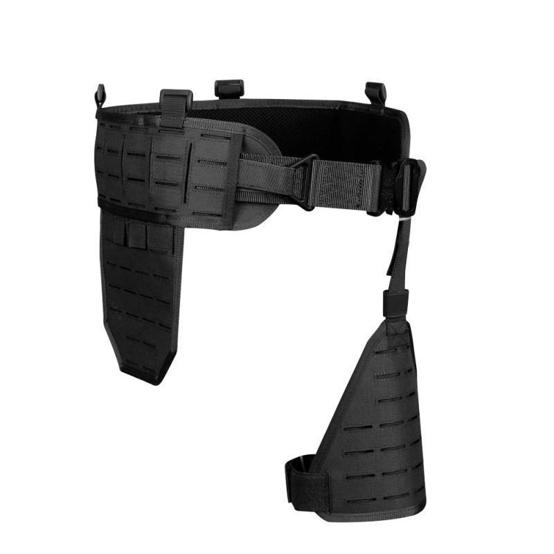 (Tactique) chasse ventre bande ultra large 1000D Nylon élastique respirant rapide Détacher abdominale Ceinture Holster Carry