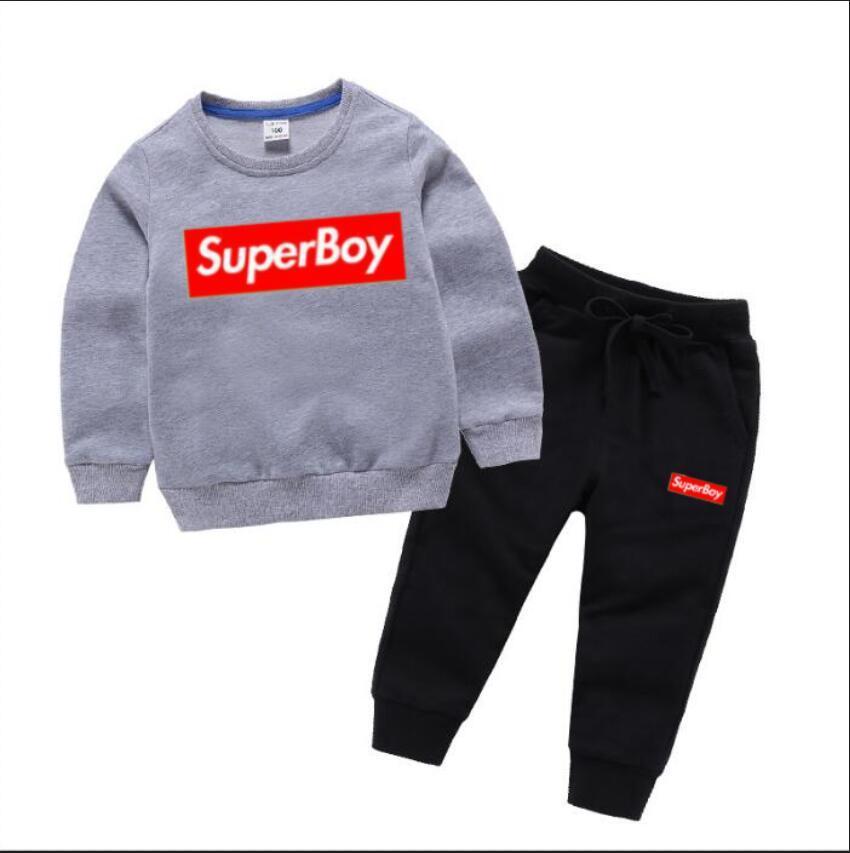 Дети дезажированные наборы ребенка 1-8 лет детская одежда осенью и зима новая картина мужская девушка свитер костюм детская куртка