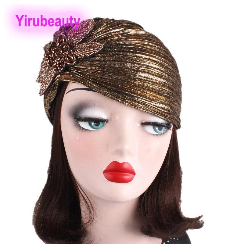 Neue Stil Edle Bronzing Fold Indian Hat Schmuckzubehör Turban Hat