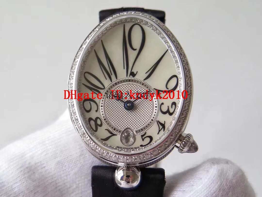 ZF Top Reine de Naples Mulher Watch Diamond Lady Watches Swiss 537 Mecânica Automática 28800 VPH Luxo Ladies Relógios Sapphire Cristal