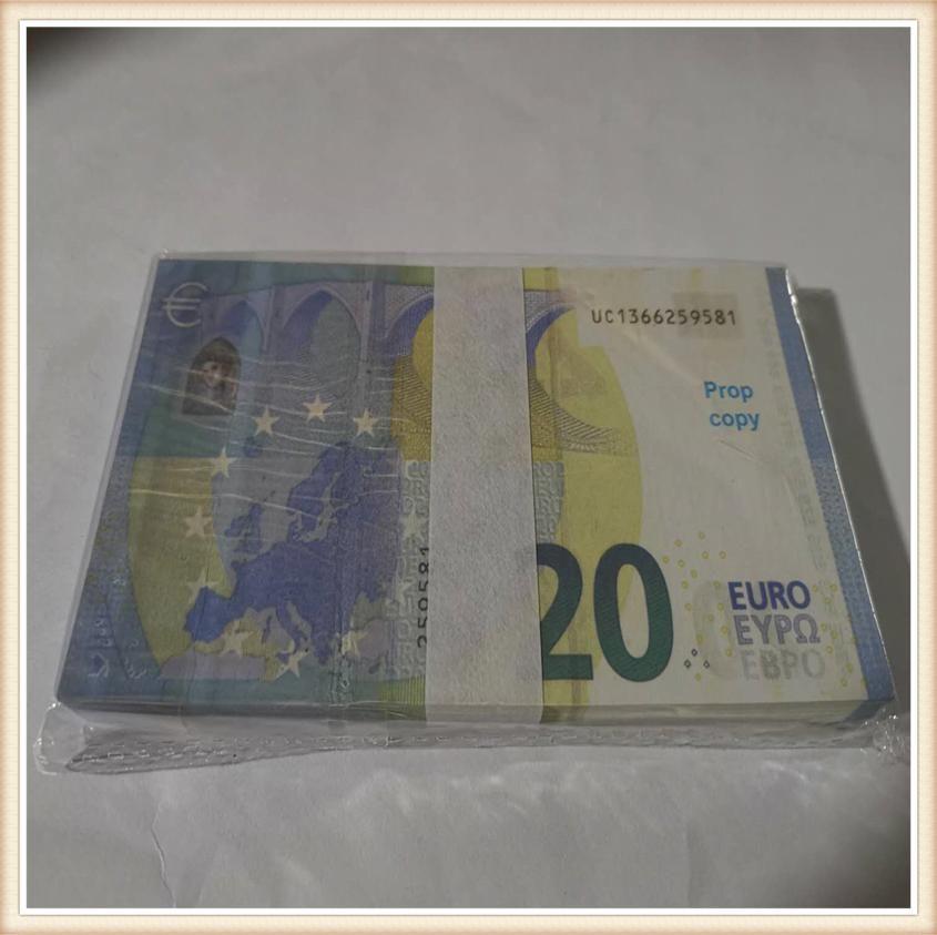 La maggior parte dei bambini Game Paper 20 Soldi o copia Play Realistic US Family BankNote Euro Giocattolo Pop 100pcs / Pack VGHBJ