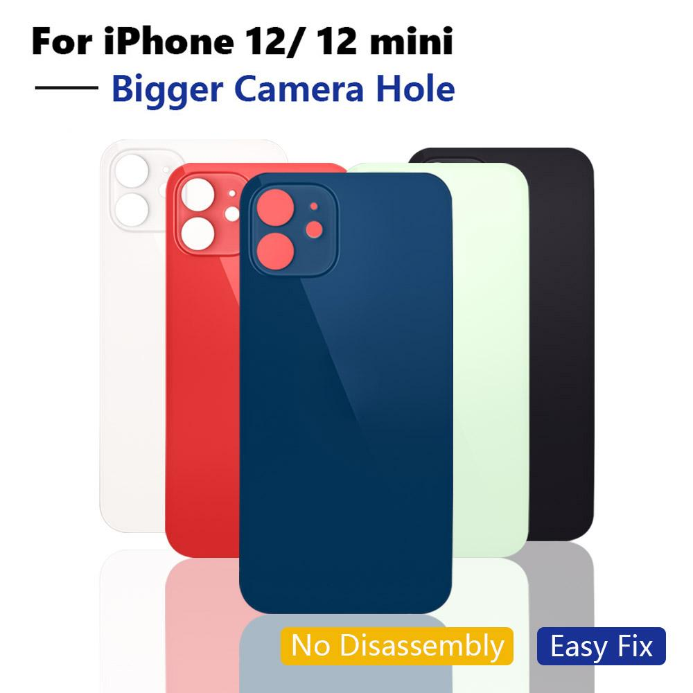 OEM Big hole back glass For iphone 12 Pro MAX Battery Back Glass for iphone 12 12 mini Rear Cover Housing Case