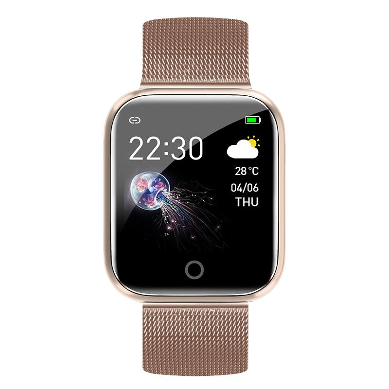 Smart watch Rose Golden Steel band