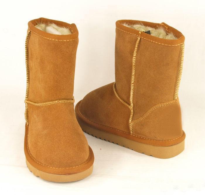 2020 Çizmeler 5281 Klasik Kısa Çocuk Kar Boot Kız Erkek Kış Çizmeler Çocuklar Çizmeler Dana Kış Boot AB Boyutu: 25-34 Ücretsiz Kargo Boot