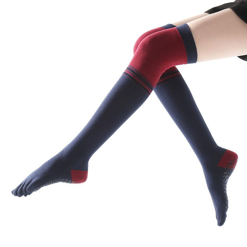 Frau Yoga über Kniestrümpfe Mode Herbst Winter rutschfeste fünf Finger Socken für Tanzkörpermechanik