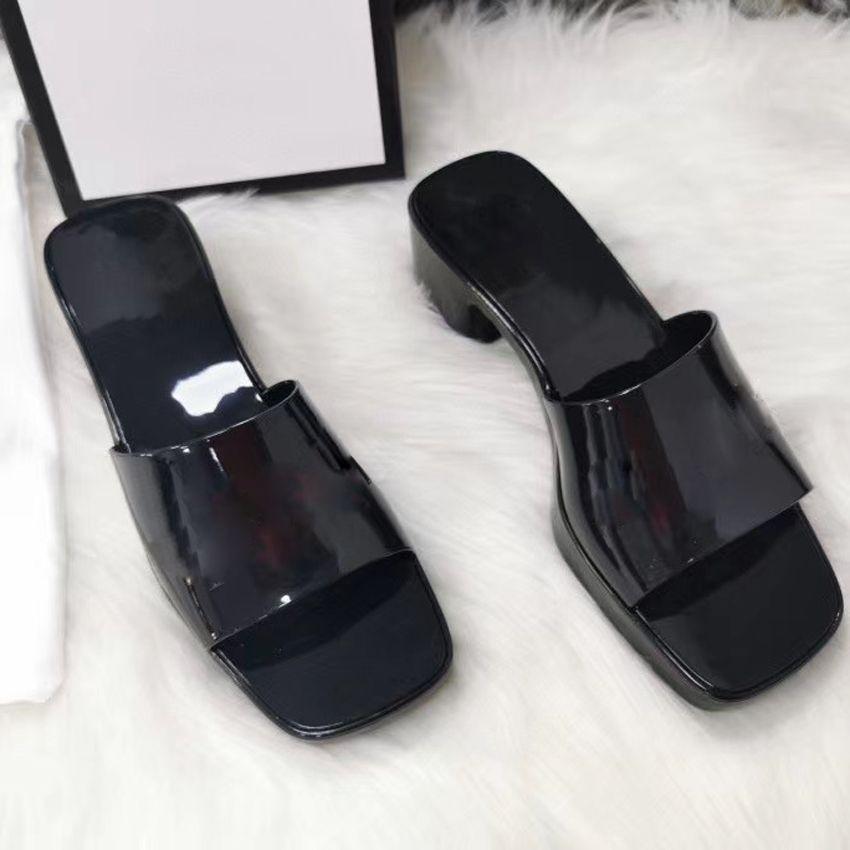 Nuova primavera estate estate sandali donna gelatina nero 5 cm sandali tacco tacco basso tacco basso scarpe da donna estate estate spiaggia cause flip flops 35-41
