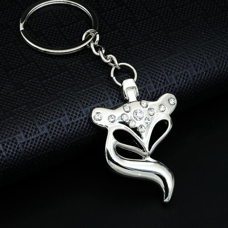 Fox Keychain Anel bonito para mulheres criativos Cadeia Titular da chave do encanto do saco de alta qualidade Portachiavi Chaveiro Llaveros