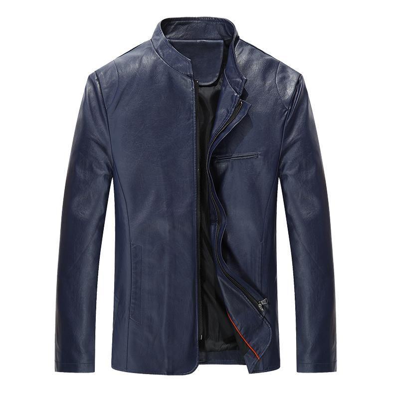 Mogu 2020 Winter neue PU-Lederjacke für Männer Klassisches Design Casual Black Faux Pelz Herrenjacke Asiatische Größe M bis 5XL