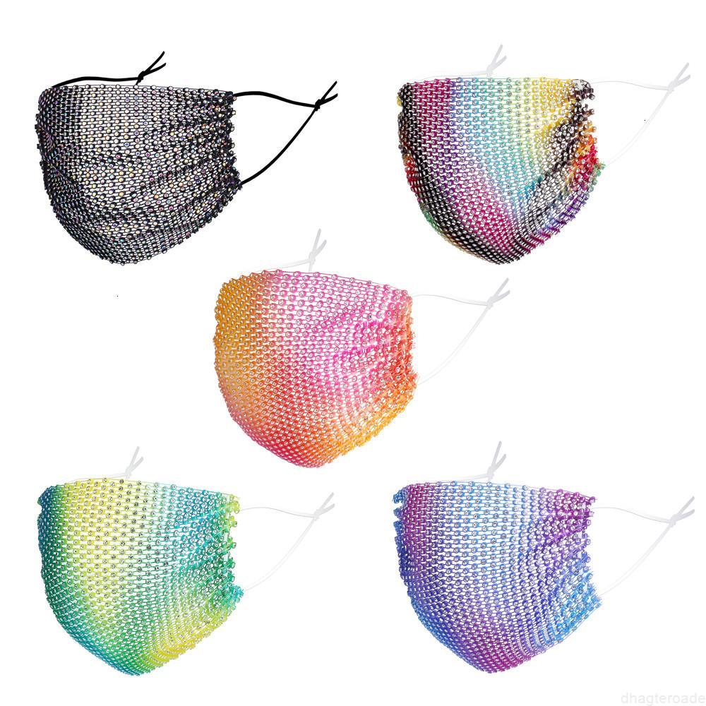 Запыление Bling Designer Sequins Anti-Fog Personalized Mashion Masks Защитная маска для женщины