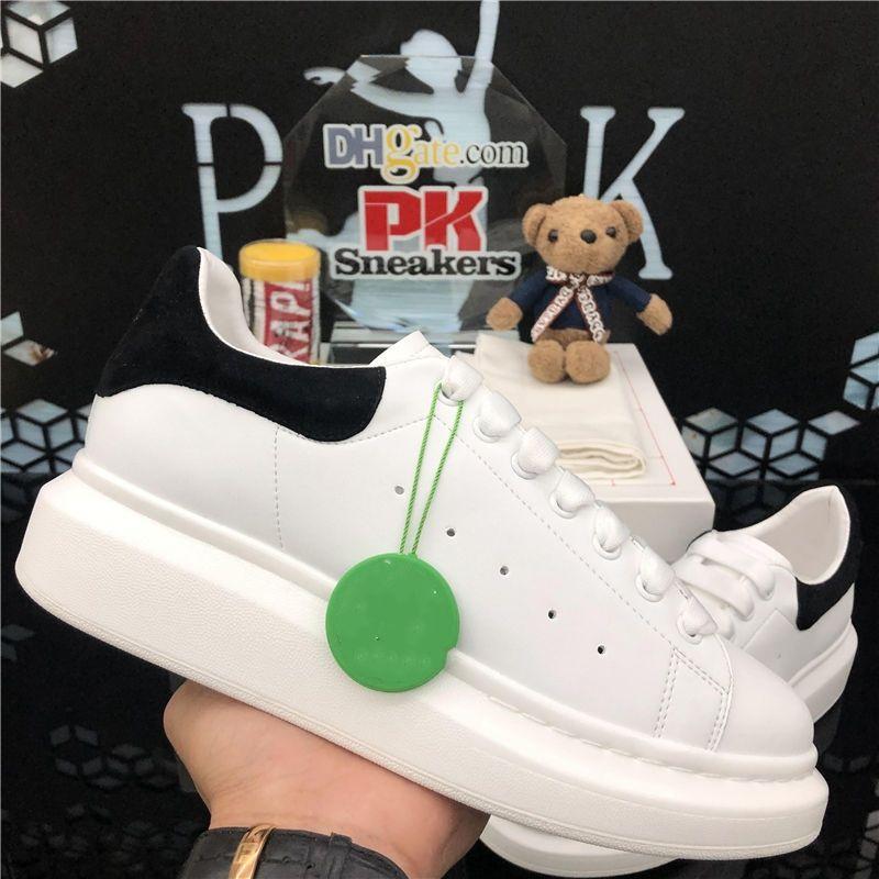 Top Quality 2020 Lace-up Casual Piattaforma Casual Uomo Scarpe da donna Balck Bianco Bianco Pelle d'oro Pelle Falt Sneakers Moda uomo Scarpe da donna con scatola