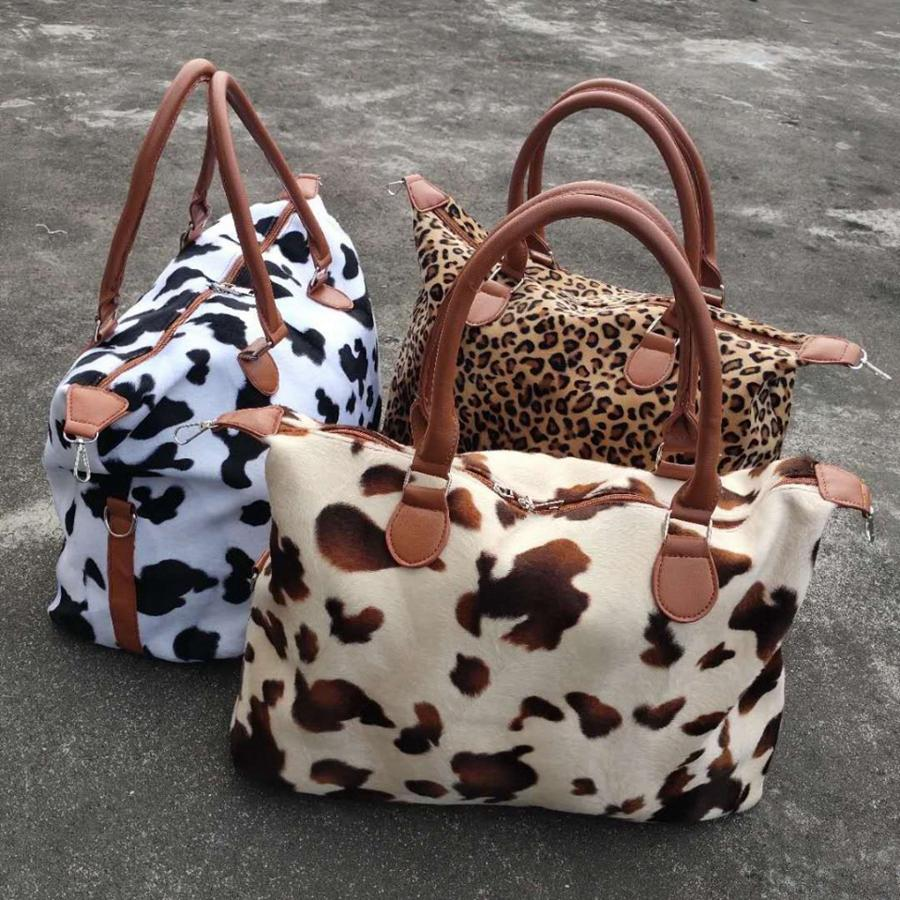 Yoga dda827 lagerung druck große kapazität wochenende reise kuh frauen handtasche taschen sport totes mutterschaft tasche leopard tjdgg