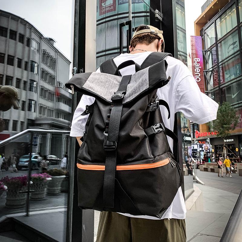 Rolltop Saco de Treinamento Saco Basquete Esportivo Basquete Multifuncional Ginásio Fitness Mochila Femme Homens Sneaker Bag Sportsbag Z1121