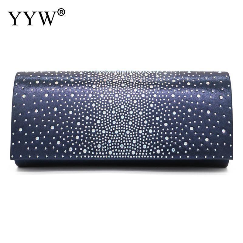 La nuova borsa della frizione della spalla da sposa delle donne di modo Bling della catena del rhinestone del rhinestone della borsa della borsa della borsa della borsa della borsa casual copre le borse