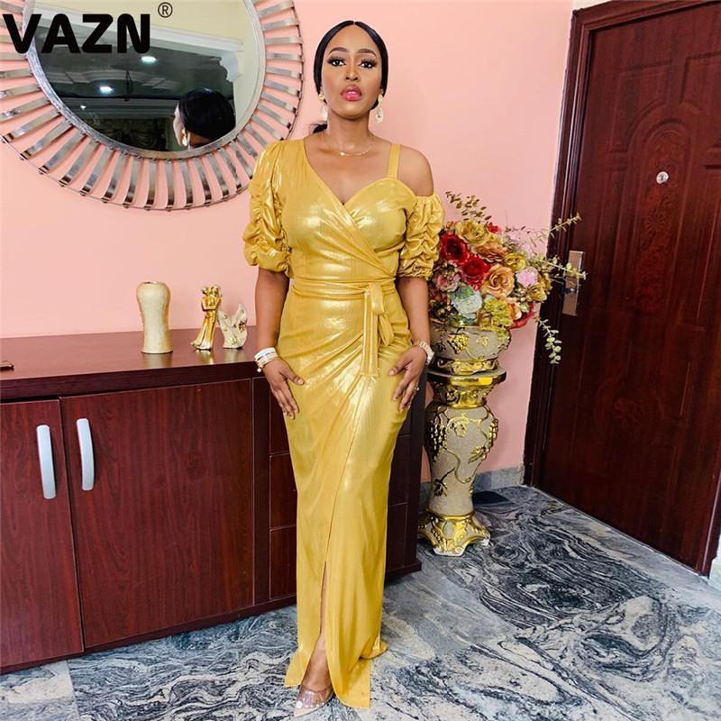 Vazn New Fashion Mujer Celebrity Sera Party Signore Slim Elegante Giovane Vestito 2020 Abito da donna a V a maniche a V