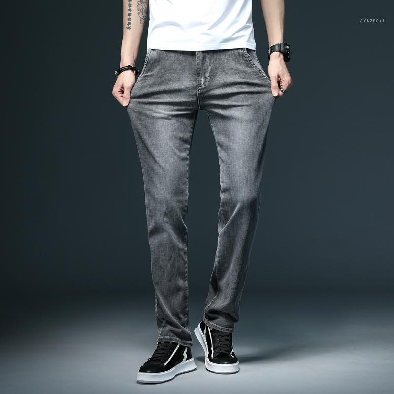 Grigio Mens Jeans Fashion Jeans Casual Jeans Uomo di grandi dimensioni 28-40 Piccoli pantaloni Denim Stretch Stretch Primavera e autunno uomo Pant1