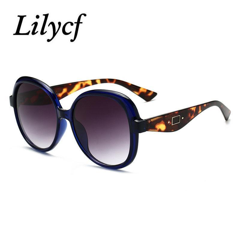 Quadro Redondo Leopardo Sunglasses Senhoras Tendência Tendência Vidros 2020 Retro Senhoras High-End Marca Designer Personalidade Novos Óculos UV400