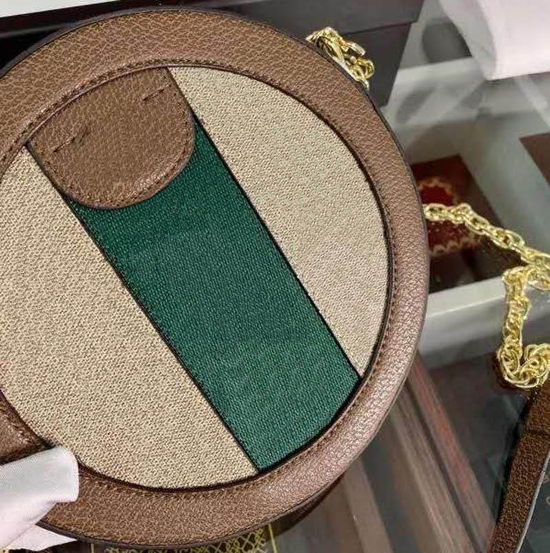 패션 라운드 가방 여성 여행 럭셔리 핸드백 여성 가방 디자이너 체인 지갑 사회적 패션 숄더 가방 및 크로스 바디 가방