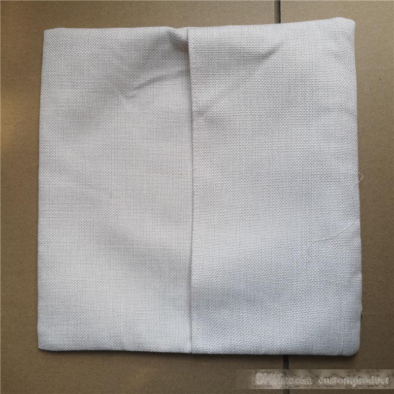 Sublimation Étuis de poche vierge de linge oreiller à chaud impression à chaud Consommables Consommables DIY Cadeaux 16 * 16inches 12 * 12 pouces