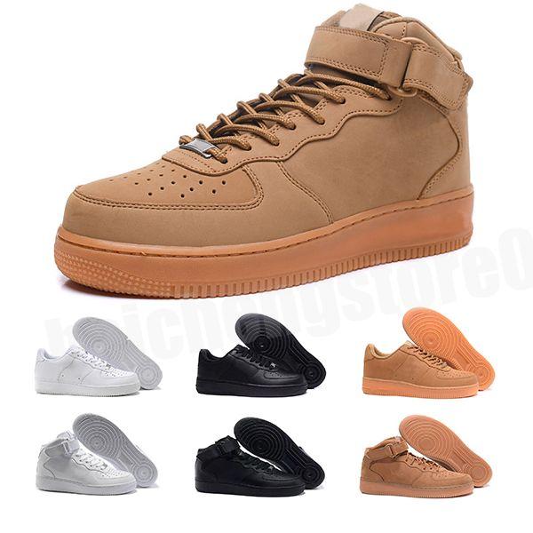 Marka İndirim Bir 1 Dunk Erkek Kadın Flyline Koşu Ayakkabıları, Spor Kaykay Onları Ayakkabı Yüksek Düşük Kesim Beyaz Siyah Açık Eğitmenler B-177