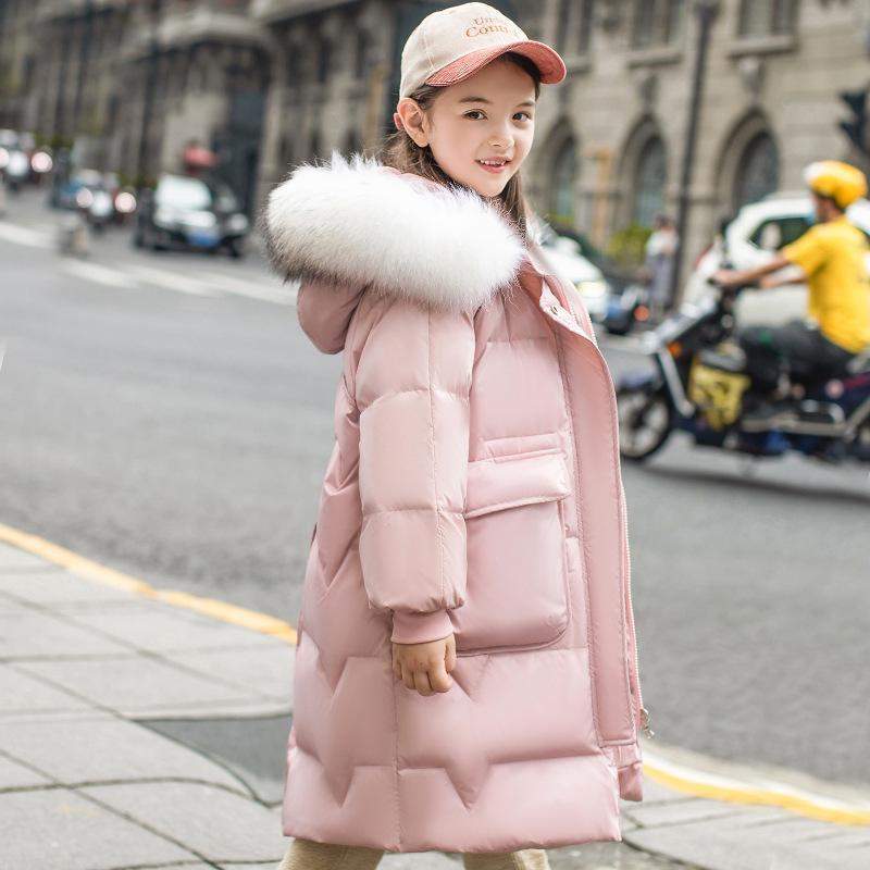 Veste de la veste pour enfants Version coréenne, Zhongda, épaissie épaissie épaissie et longue couche de cheveux de cheveux en gros y1208