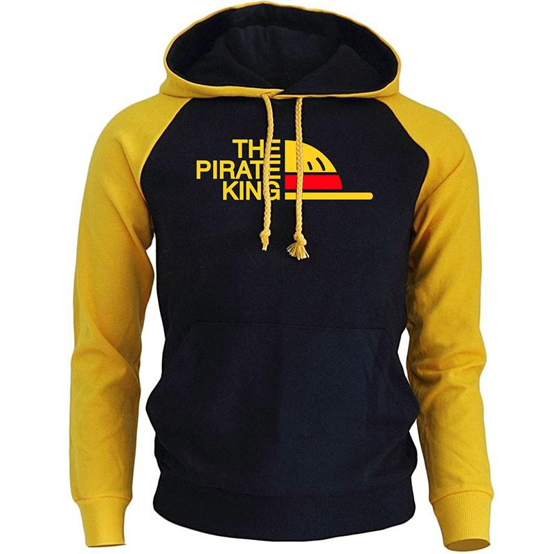 Die Piraten-King Streetwear-Hoodies für Männer Herbst Winter Fleece-Sweatshirt einteiliger Anime Harajuku Herren Hoodie Pullover X1227