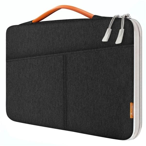Laptop Sleeve 13-14.1 inch, Multi-pocket Waterproof Case with Portable Handle, 13-13.3 Notebook bag for MacBook Q0112