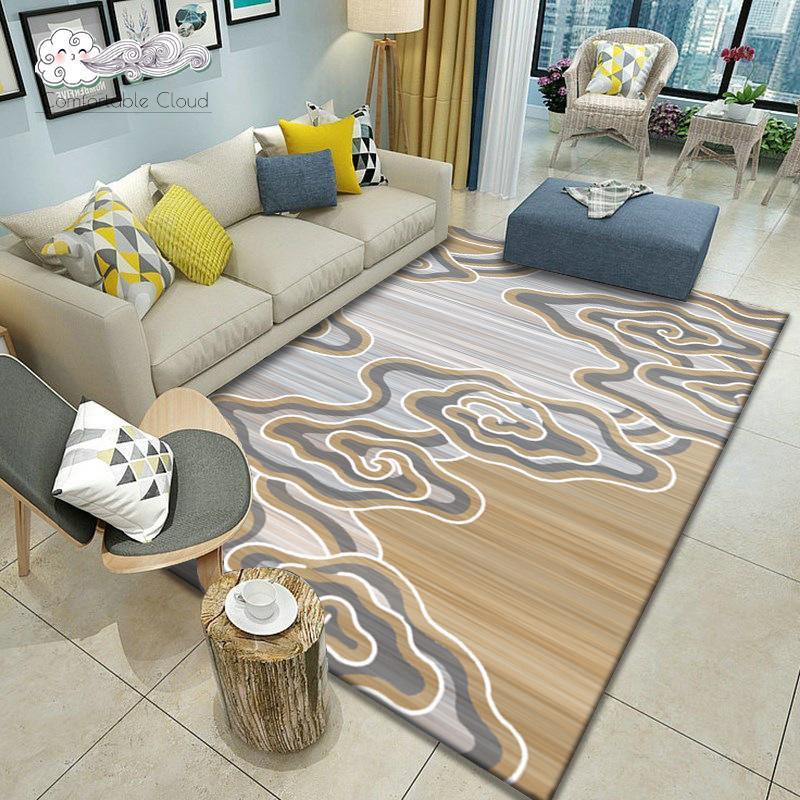 Home Geometric Nordic Carpetes Sala de estar Casa de cabeceira Capa Tapetes Escritório Mesa de centro antiderrapante