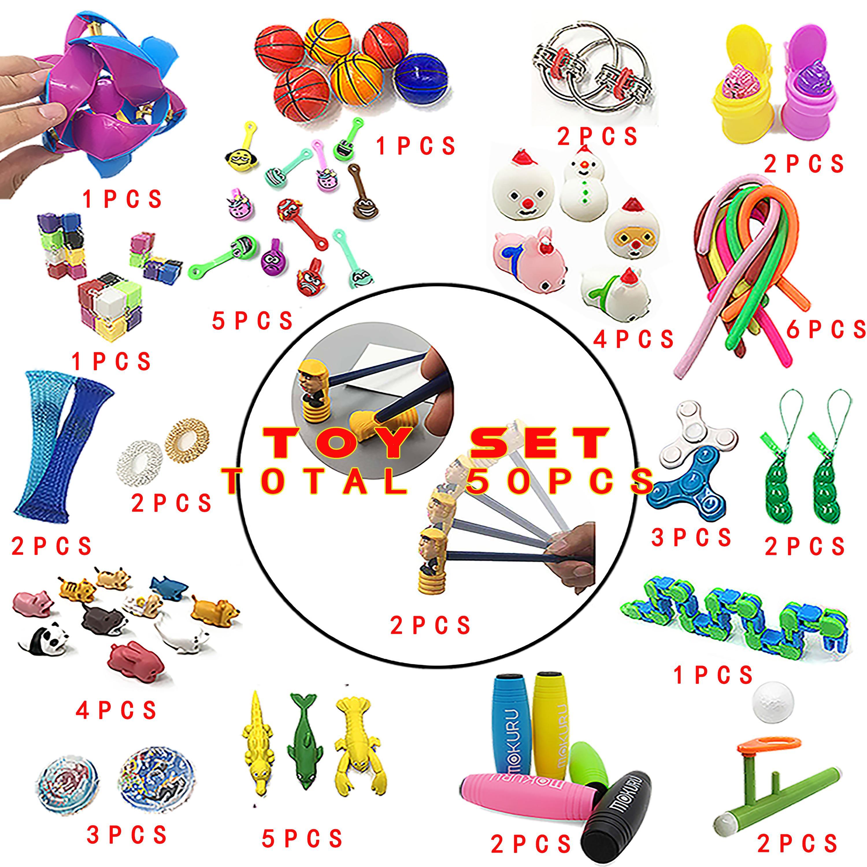 2020 새로운 재미있는 패션 조합 50 조각 액티브 - 해결 안절기 어린이 장난감 아마존 뜨거운 판매 다양 한 스타일 세트 도매 세트
