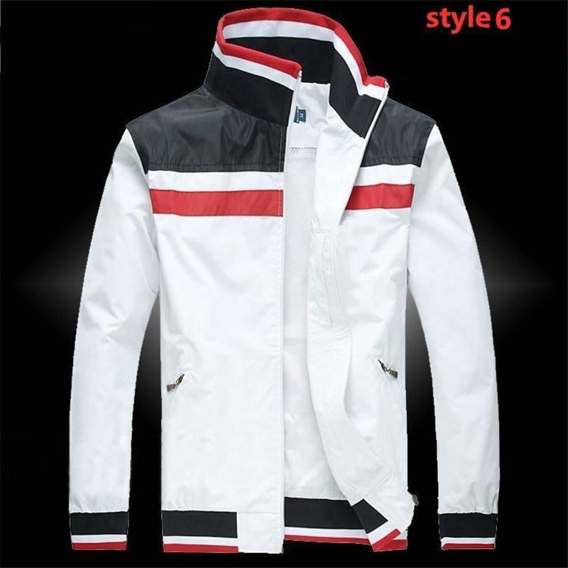 USA Polo antivento bianco rosso giacca da uomo impermeabile giacca sottile stand collare gioventù giacca casual da uomo uniforme da baseball e uniforme da golf