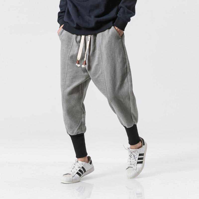 MRGB Addressori per uomo caldo harem pantaloni 2020 autunno inverno nuovo streetwear pantaloni di lana stile cinese harem pants hip hop1
