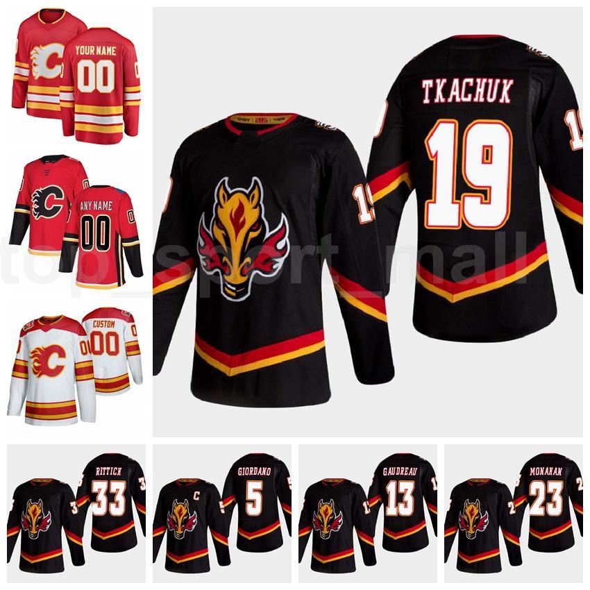 Retro retro calgary llamas jersey hielo hockey sobre hielo 19 Matthew Tkachuk 13 Johnny Gaudreau 23 Sean Monahan 5 Mark Giordano 28 Elias Lindholm