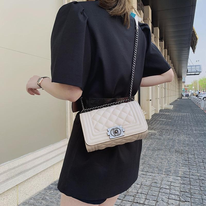 Fxtz Handbags Designer-Luxury Women Bags Designer 2019 Nuevo PU Cuero de PU y bolsos Bolsos Cadenas de PVC Famoso Crossbody Shouler Bolsas para mujeres